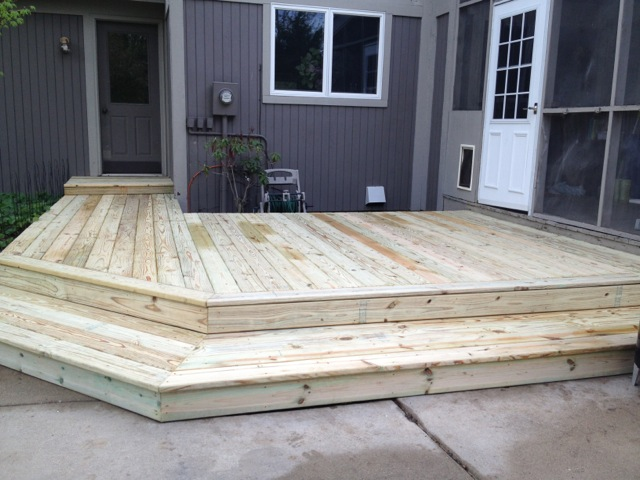 We Also Added Steps All The Way Around, Rather Than Just In One Corner,  Which Really Makes A Difference In The Size And Functionality Of This Deck.