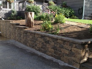 retaining wall closeup